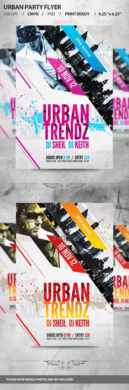 GraphicRiver Urban Party Flyer Templates