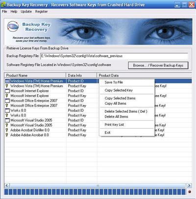 Nsasoft Backup Key Recovery 2.1.7.0