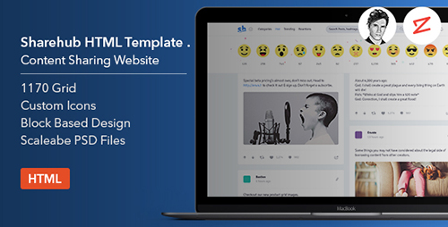 ThemeForest - Sharehub v1.0 - Content Sharing HTML Template - 19748473