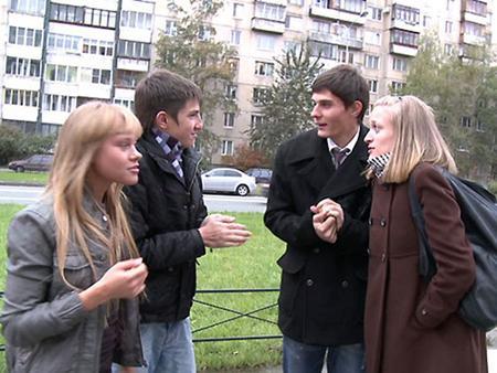 Русские студенты устроили групповуху