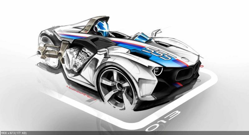 Концепт гибридного трицикла BMW K1600GT