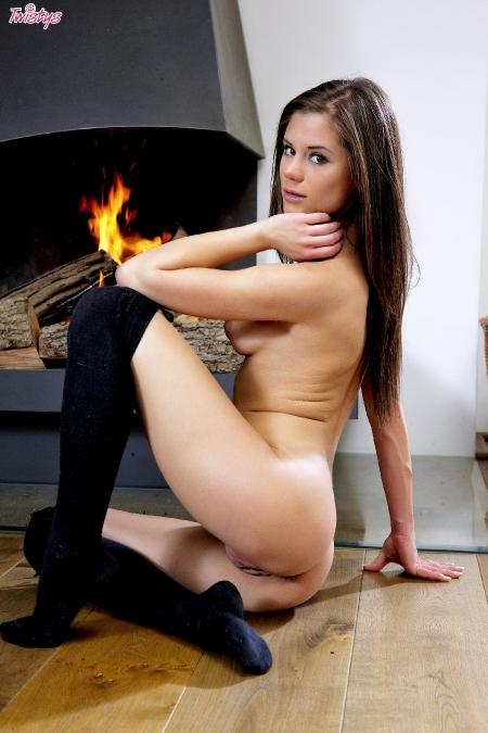 Twistys: Caprice - Cozy By The Fire (22-07-2013)