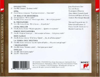 Jonas Kaufmann – The Verdi Album / 2013 Sony