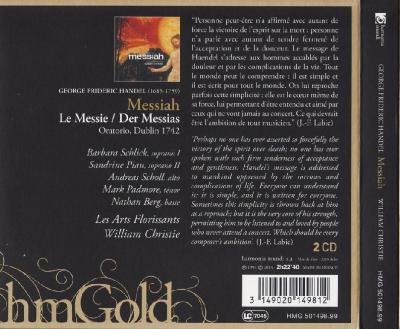 Handel – Messiah, 2CD / 2013 Harmonia mundi